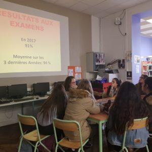 Présentation du Bac Pro au forum d'orientation du collège Choisy – St Malo